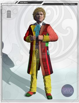 The 6th Doctor Colin Baker. by DarkAngelDTB