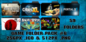 Game Folder Pack 6 59 Folders by floxx001