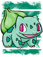 Bulbasaur by beanzomatic