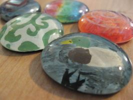 Painted Glass Stones by theartisticnerd