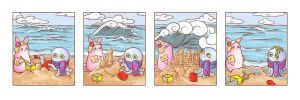 Octopus + Bunny Go To The Beach by OctopusandBunny