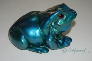Jade frog by PaintedKelpie