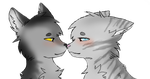 Graystripe and Silverstream by Mlaraka