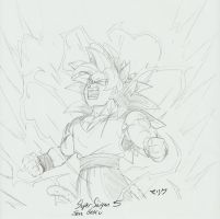 Hypothetical Sketch - SSJ5 Son Goku by MalikStudios