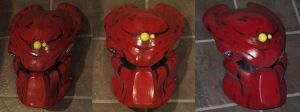Big Red Bio Helmet from Batman Dead End by PredatrHuntr