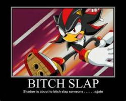 SHADOW IS SLAPPING PEOPLE ONCE AGAIN... O____O by SonicSilver2003