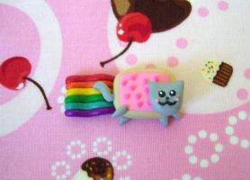 Nyan Cat Charm by alternativeicandy