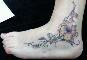 tribal flower by tattoomary