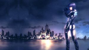 PS3 Wallpaper - Motoko by checkthisout