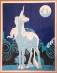The Last Unicorn Duct Tape Art by DuctTapeDesigns