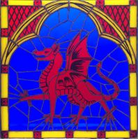 Stained Glass Dragon by LittleFireDragon