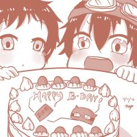 Happy Birthday Bossun and Tsubaki! by aquamista