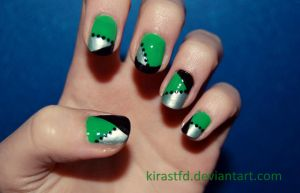 Glam green nails by KiraSTFD