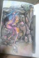 Watercolor - Mermaid -1 by telephonehome