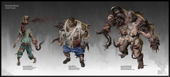 Deadline Parasite Zombies by demonui