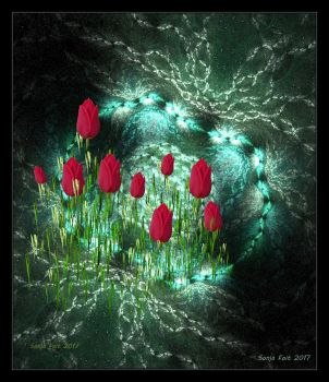 Tulips on the water-abstract-2017-foto-fractal by sonafoitova