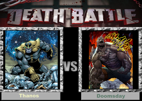 Death Battle (Fan)--Thanos vs. Doomsday by XPvtCabooseX