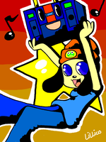 Parappa and Boxy Boy by Child-Of-Neglect