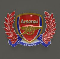 Arsenal London Logo in 3D made in 3DS MAX by fred128