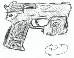 a gun by TheNoodleGod2012