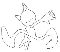 Sonic base pose 3 by nothing111111