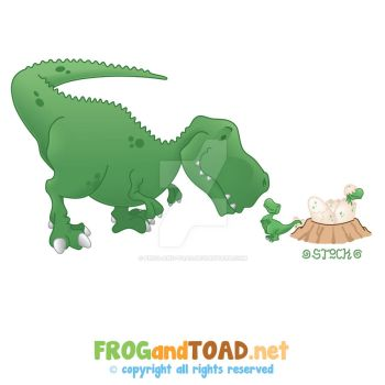 Tyrannosaurus Rex FROGandTOAD by FROG-and-TOAD