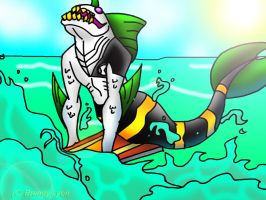 SURF'S UP DUDES by DrChillRoach