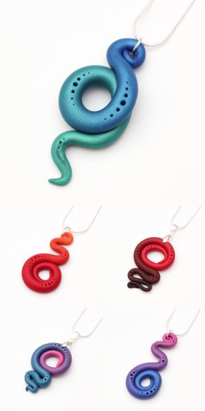 Spiral necklaces - first set by FrozenNote