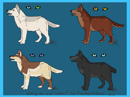 Wolf Adoptables4-CLOSED by Dolphin-Adopt