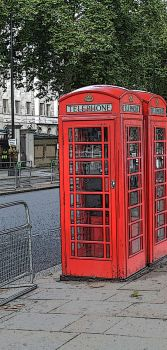 Comic book phone box by Jhickling