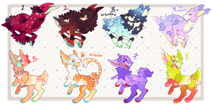 Jawn and Reid's Species Bonanza (CLOSED) by PhloxeButt