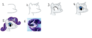 How To Draw Rarity by kittyriffic
