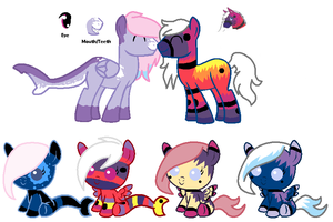 MLP Breedable: Kendall and OC 2 -CLOSED- by ChopstickGirl241