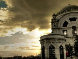 Mosque at Dolmabahce by Sputzke