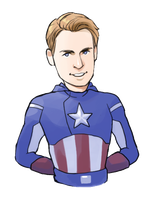 Avengers: Captain America by Hallpen