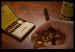 Whisky and cigars by Kantiki