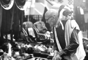 Old man and his dog by pkritiotis
