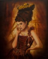 Steampunk Queen Airbrushed by PatrickKneefel