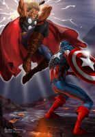 ThorvsCaptain America by androsm