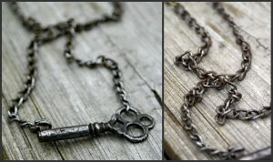 Antique Skeleton Key Neclace by Louness26
