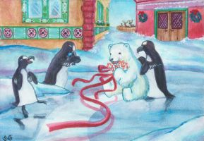 Friendship in North Pole by Soji-chan