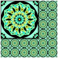 turquoise pattern by oxanaart