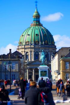 Frederik's Church with Tilt-Shift Effect by WorldsInWorld