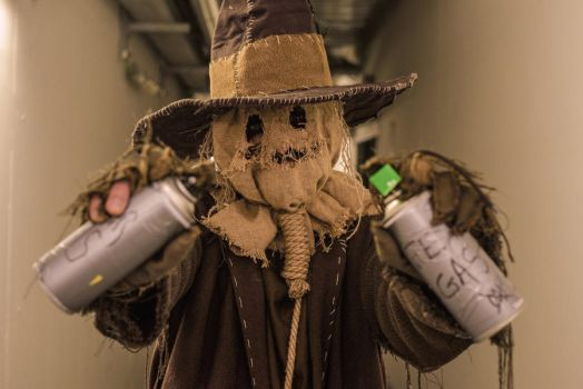 Scarecrow cosplay: the fear gas by Marivel87