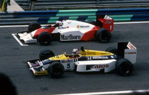 Alain Prost | Nigel Mansell (Portugal 1986) by F1-history