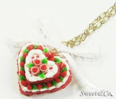 Lover Cake Ribbon Necklace by SweetandCo