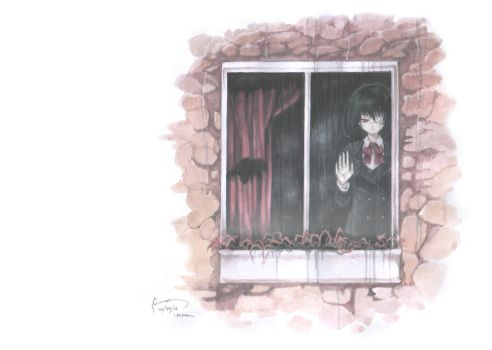 Another: Misaki by the Window by Nick-Ian
