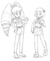 Luna and Misora are explorers by Momogirl