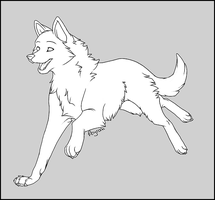 Free Wolf Lineart (NEW VERSION AVAILABLE) by Feyrah