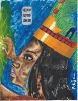 Maya Queen 1330th rule anniversary - Reina Maya by tlacuilopilo